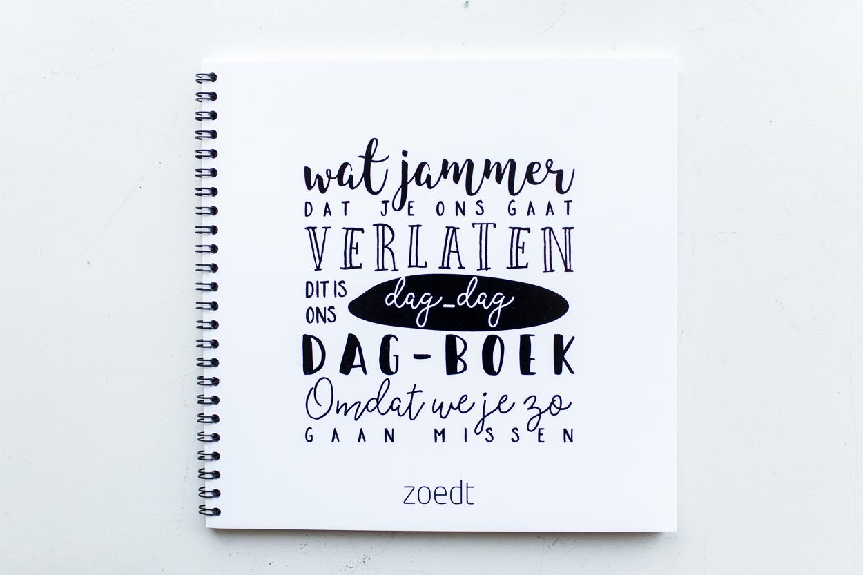 Afscheidsboek dagdagboek van Zoedt -wonen en lifestyle no28wonen