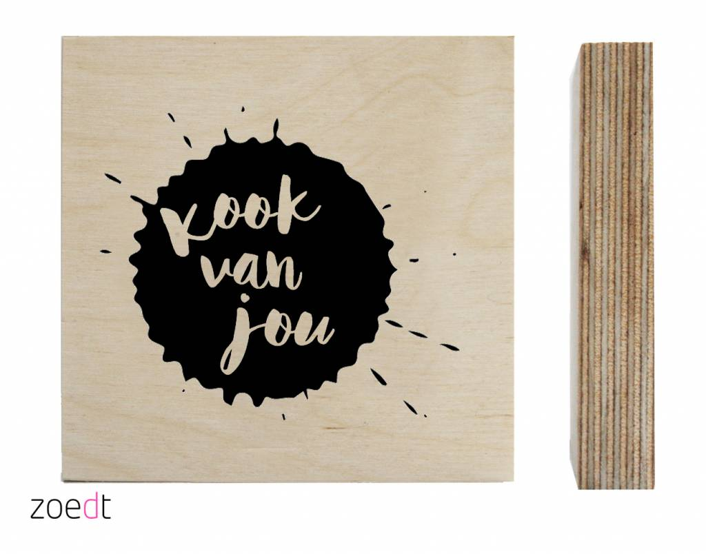 Houten tekstblokje van Zoedt -wonen en lifestyle webshop no28wonen