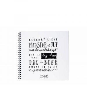 Afscheids/invulboek van Zoedt -wonen en lifestyle webshop no28wonen