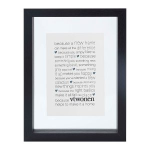 VTwonen fotolijst hout zwart