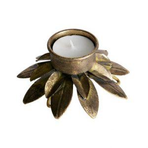 Ornament waxinehouder antiek brass
