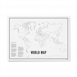 world map/ wereldkaart wijck