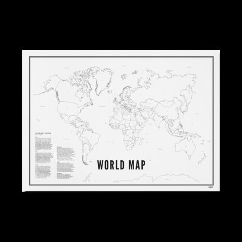 world map/ wereldkaart wijck
