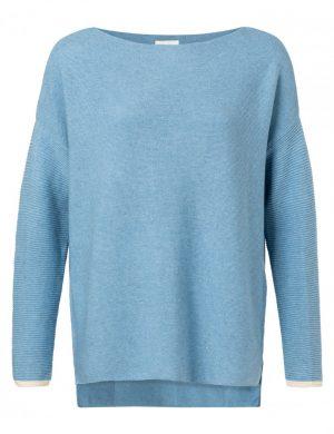 yaya sweater blauw