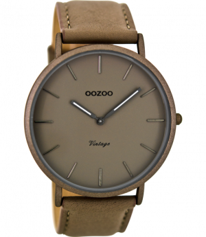 Oozoo horloge C8132 donker taupe - wonen & lifestyle