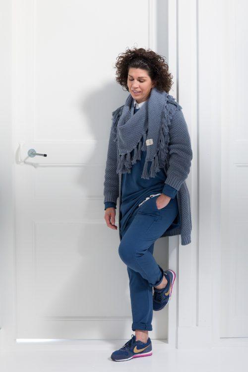 Sjaal Sasja jeansblue