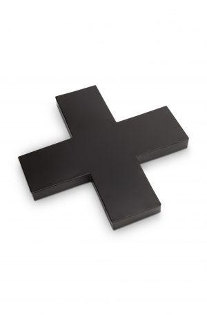 VTwonen kruis vorm metaal zwart