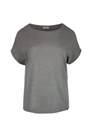 Zusss fijngebreid T-shirt grijs/groen - wonen & lifestyle