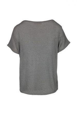 Zusss fijngebreid T-shirt grijs-groen - wonen & lifestyle