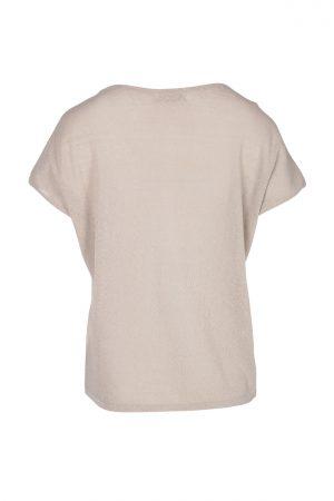 Zusss fijngebreid T-shirt zand - wonen & lifestyle