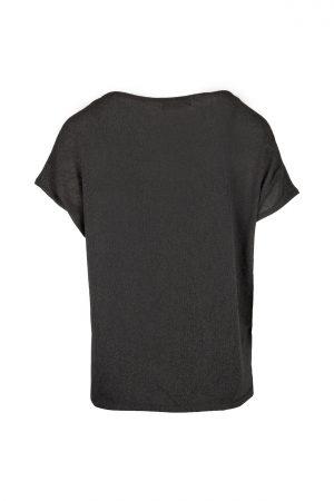 Zusss fijngebreid T-shirt off - black - wonen & lifestyle