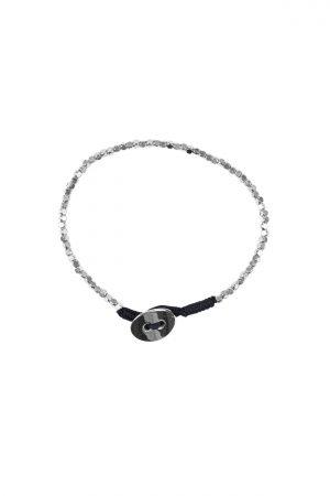 Zusss kralen armband met knoop zilver - wonen & lifestyle