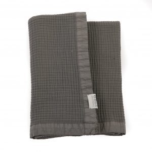 stapelgoed plaid waffel dark grey no28 wonen en lifestyle