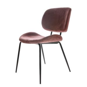 HK living chair velvet old pink