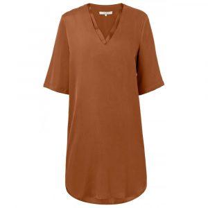 karamel kleur yaya jurk