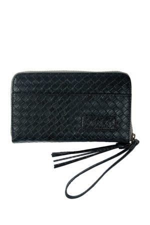 zusss leuke portemonnee zwart gewafeld