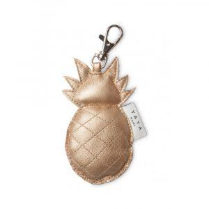 sleutelhanger ananas goud metallic