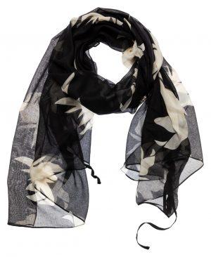 yaya sjaal zwart dessin