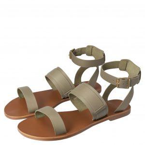 yaya leren sandalen met enkelband army green no28 wonen en lifestyle