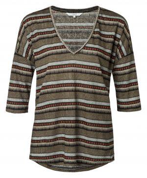 yaya linnen shirt met print