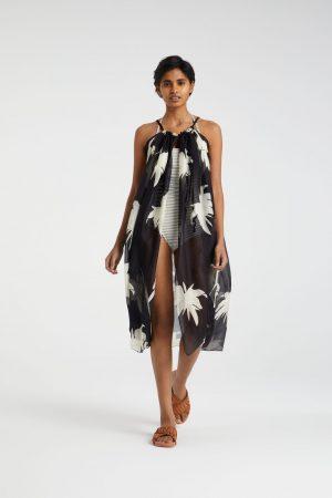 yaya sjaal/sarong zwart dessing