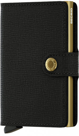 Secrid miniwallet crisple black-gold - wonen & lifestyle