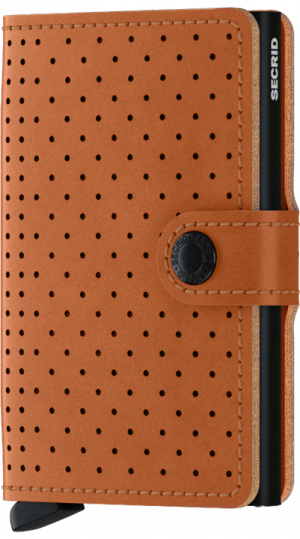 Secrid miniwallet perforated cognac - wonen & lifestyle