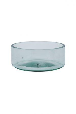Zusss schaal gerecycled glas transparant - wonen & lifestyle