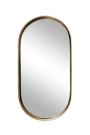 Zusss spiegel metaal ovaal goud - wonen & lifestyle