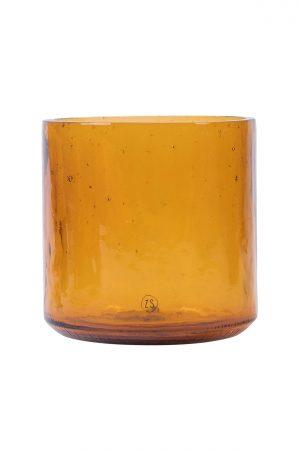 Zusss vaas gerecycled glas amber - wonen & lifestyle