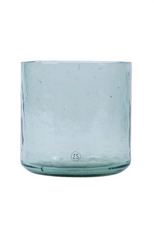 Zusss vaas gerecycled glas transparant - wonen & lifestyle