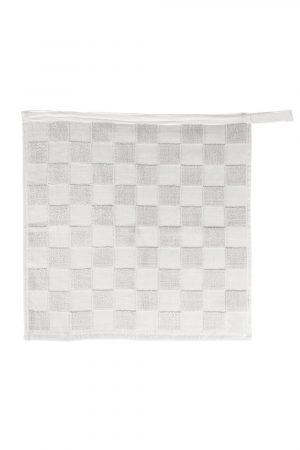 Handdoek geblokt wit