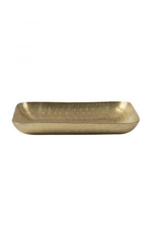 Schaaltje langwerpig metaal xs goud
