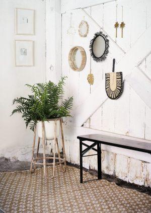 madam Stoltz plantenstandaard bamboe no28 wonen en lifestyle