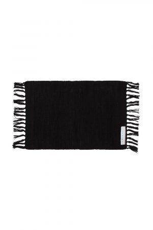 Placemat textiel zwart