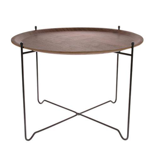 side table l walnut