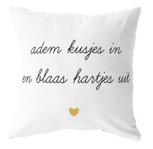 www.no28wonen.nl Label R- kussen adem kusjes in mosterdgeel