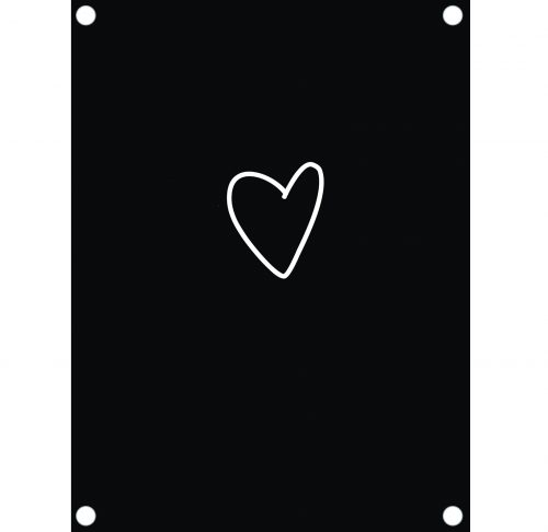Label-R tuinposter hart zwart