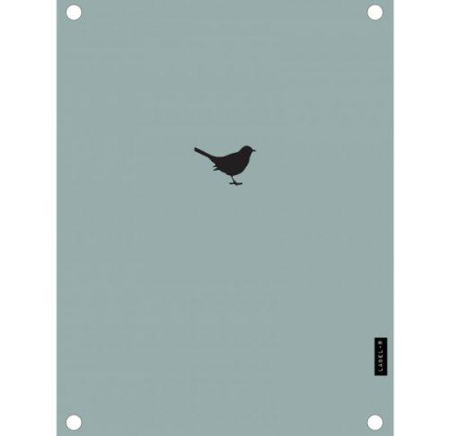 Label-R tuinposter vogeltje mosgroen