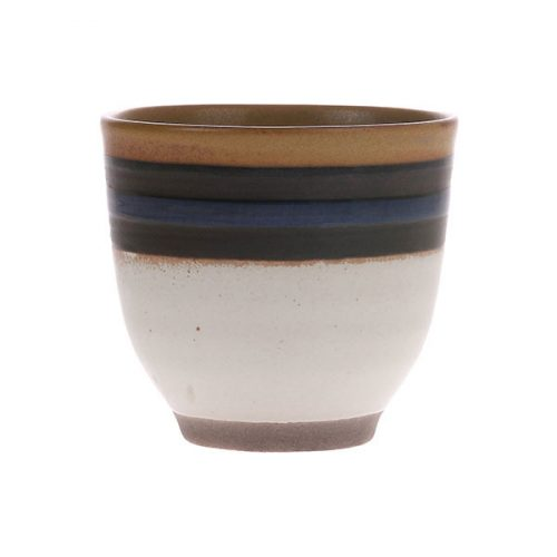 HK living kyoto ceramics blue striped mug no28 wonen en lifestyle
