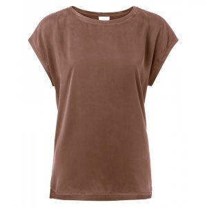 yaya basic t-shirt chocolat no28 wonen en lifestyle