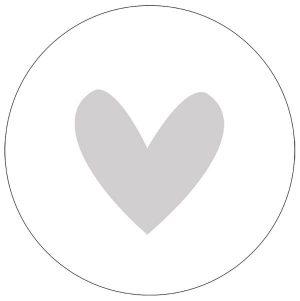 label-r muurcirkel hart lichtgrijs no28 wonen en lifestyle