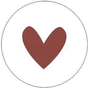 label-r muurcirkel hart steenrood no28 wonen en lifestyle