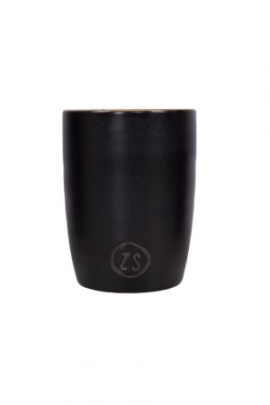 Zusss koffiemok aardewerk zwart no28wonen