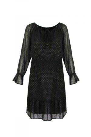 G-maxx jurk zwart met gouden glitters no28wonen
