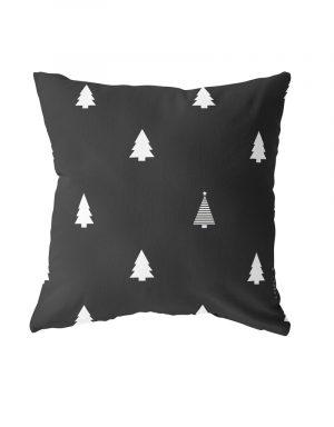 buitenkussen kerstboom zwart van Label-r -wonen en lifestyle webshop no28wonen.nl