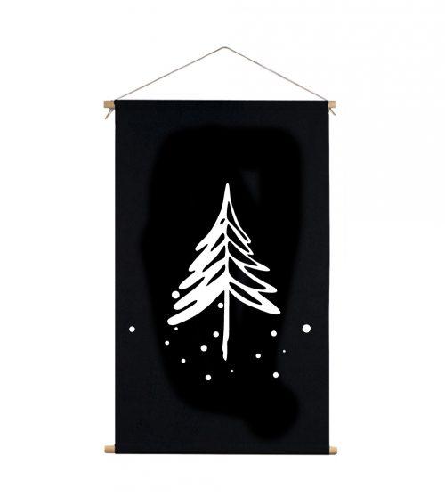 textielposter xl met denneboom van Label R - wonen en lifestyle webshop no28wonen