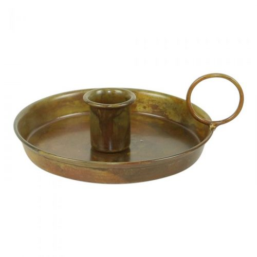 earthware kandelaar goud antiek