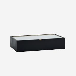 hout box met glazen bovenkant - wonen en lifestyle webshop no28wonen