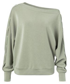 assymetric sweatshirt with stitching on sleeves yaya - wonen en lifestyle webshop no28 wonen